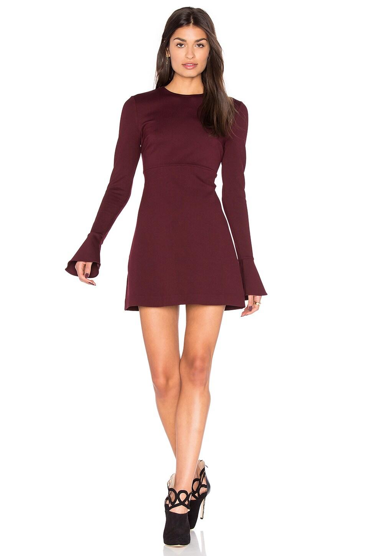 Volant Long Sleeve Dress