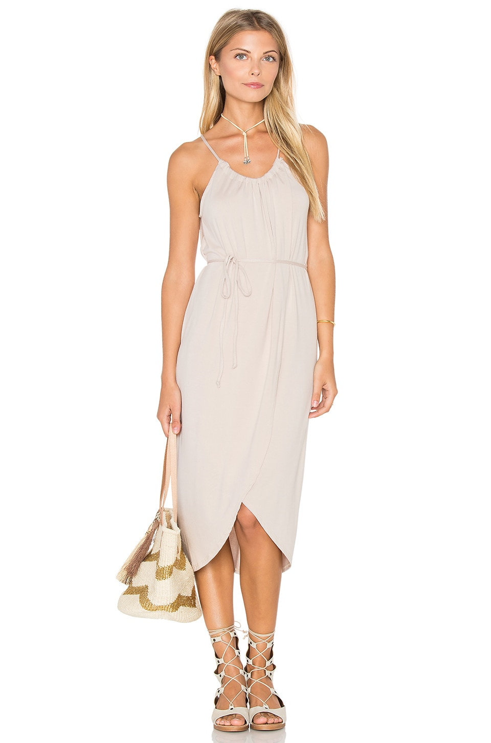 Alina Wrap Halter Dress