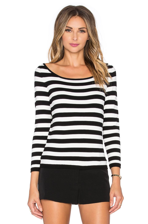 Stripe Ballet Neck Sweater