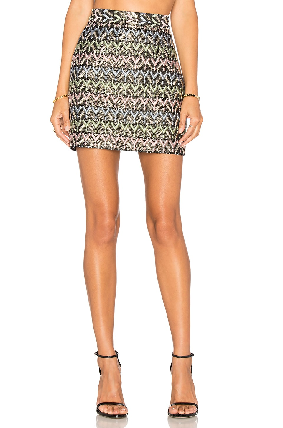 Chevron Modern Mini Skirt