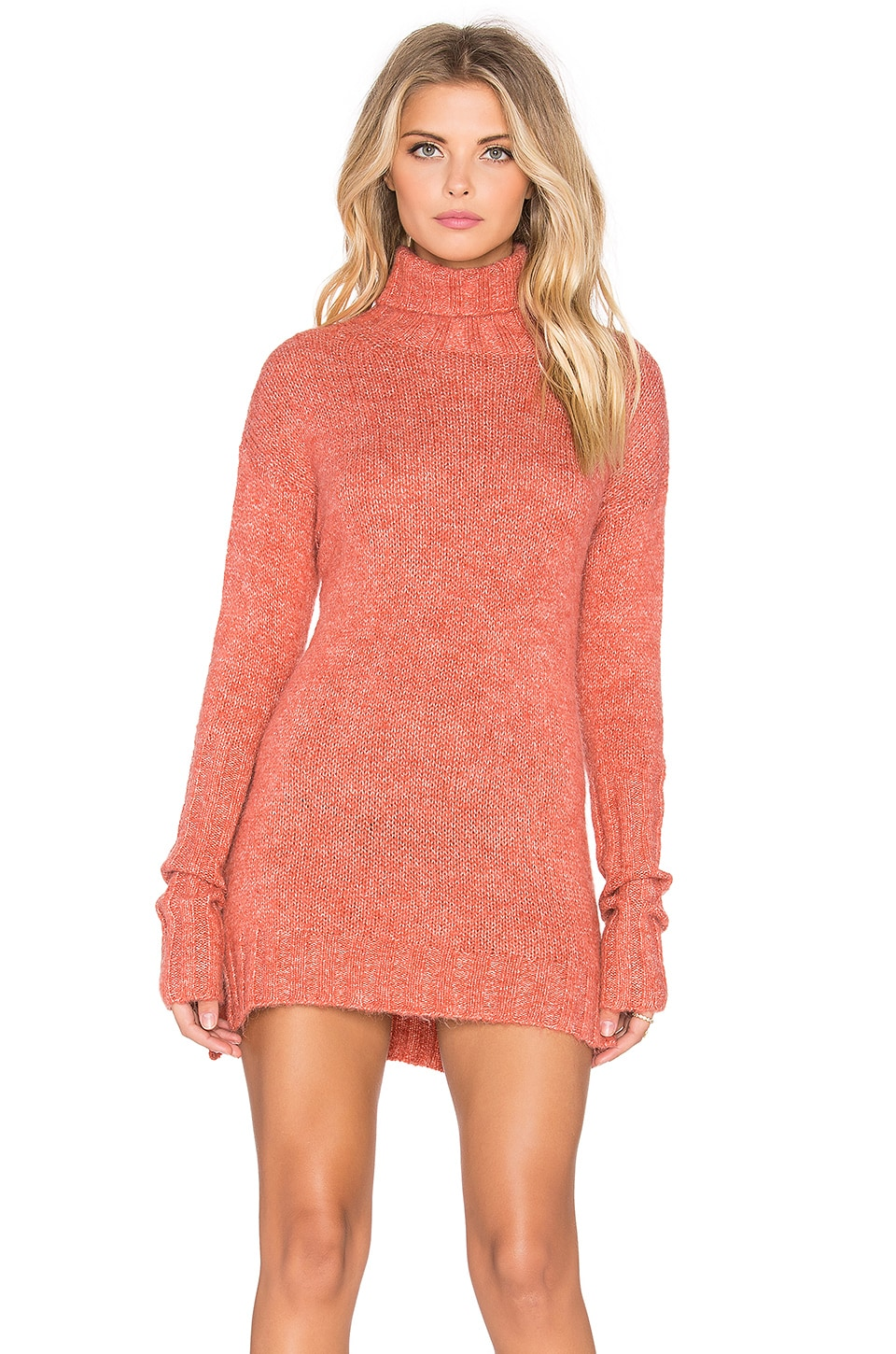 Curious Turtleneck Sweater Dress