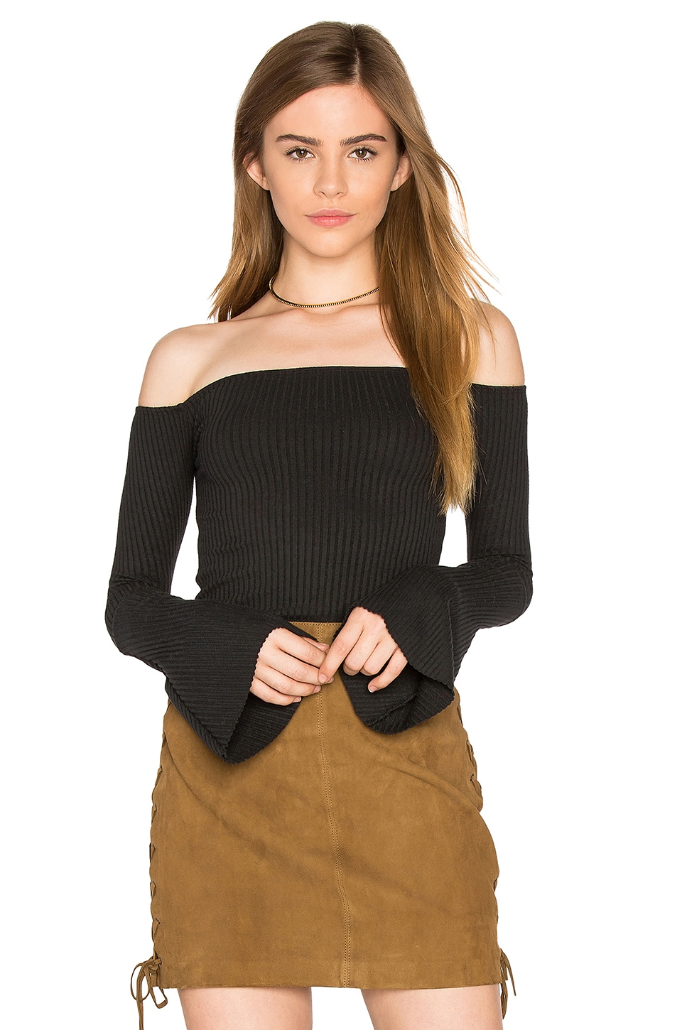Hyatt Off Shoulder Bell Sleeve Top