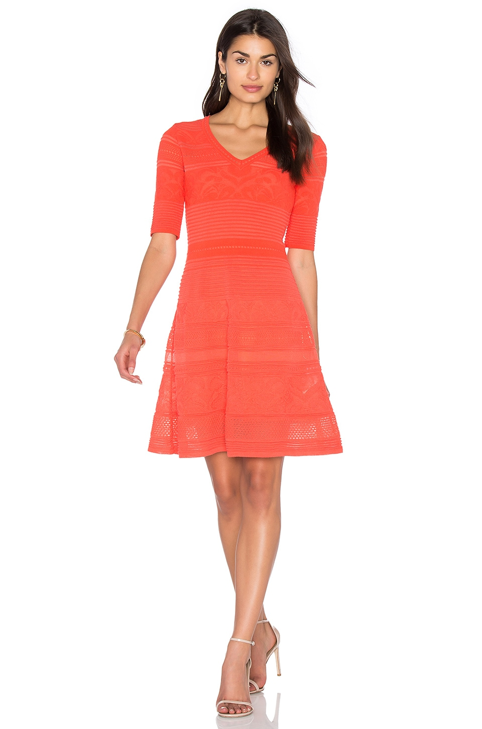 3/4 Sleeve Fit & Flare Dress