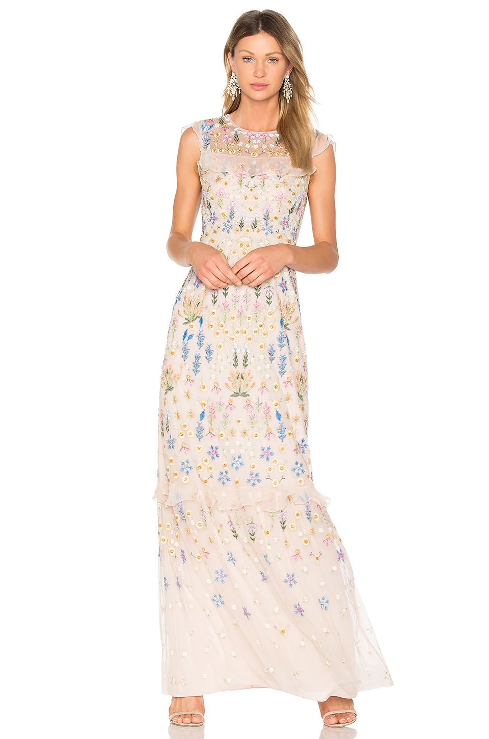 Flowerbed Embroidery Gown