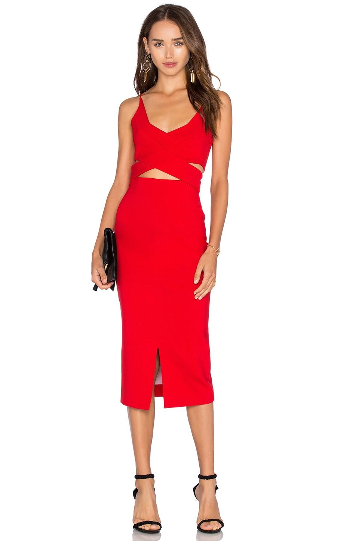 Ponti Angled Wrap Dress