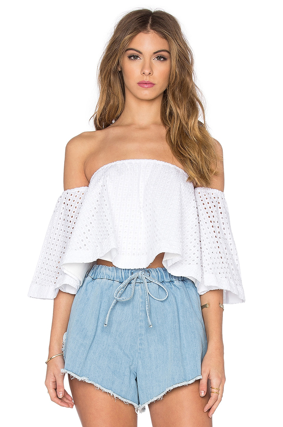 Broderie Off Shoulder Top