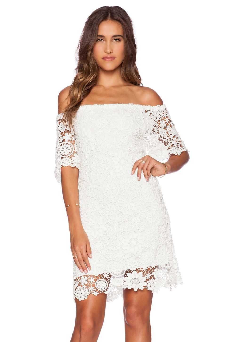 Caribbean Crochet Off Shoulder Dress