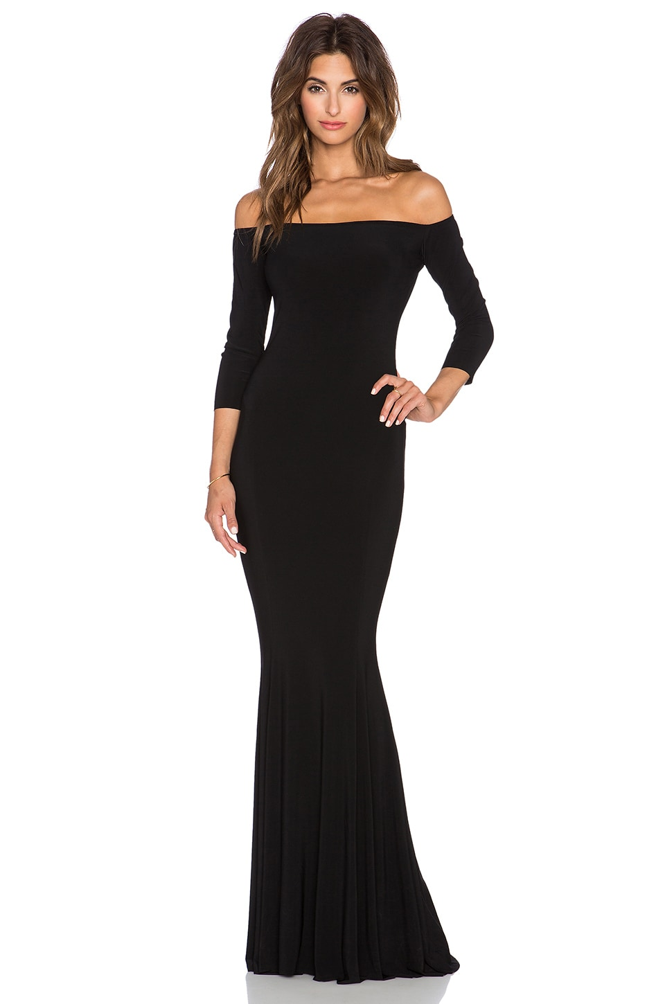 NORMA KULTURE Off The Shoulder Fishtail Gown