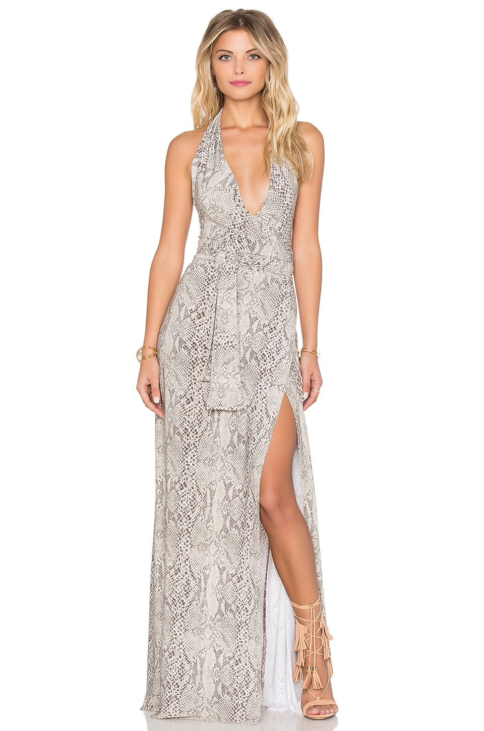 Halter Wrap Maxi Dress