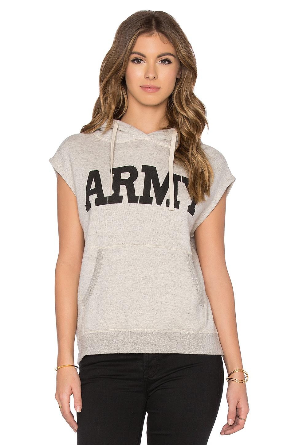 Sleeveless Army Popover Sleeveless Hoodie