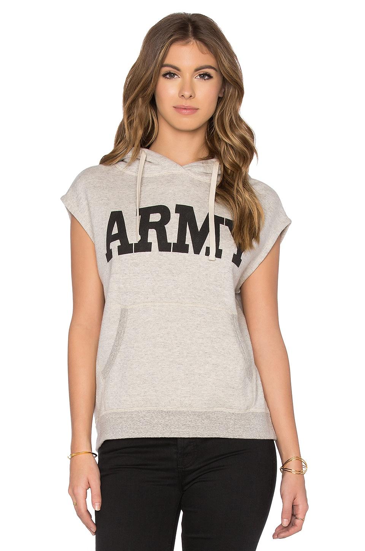 Sleeveless Army Popover Sleeveless Hoodie