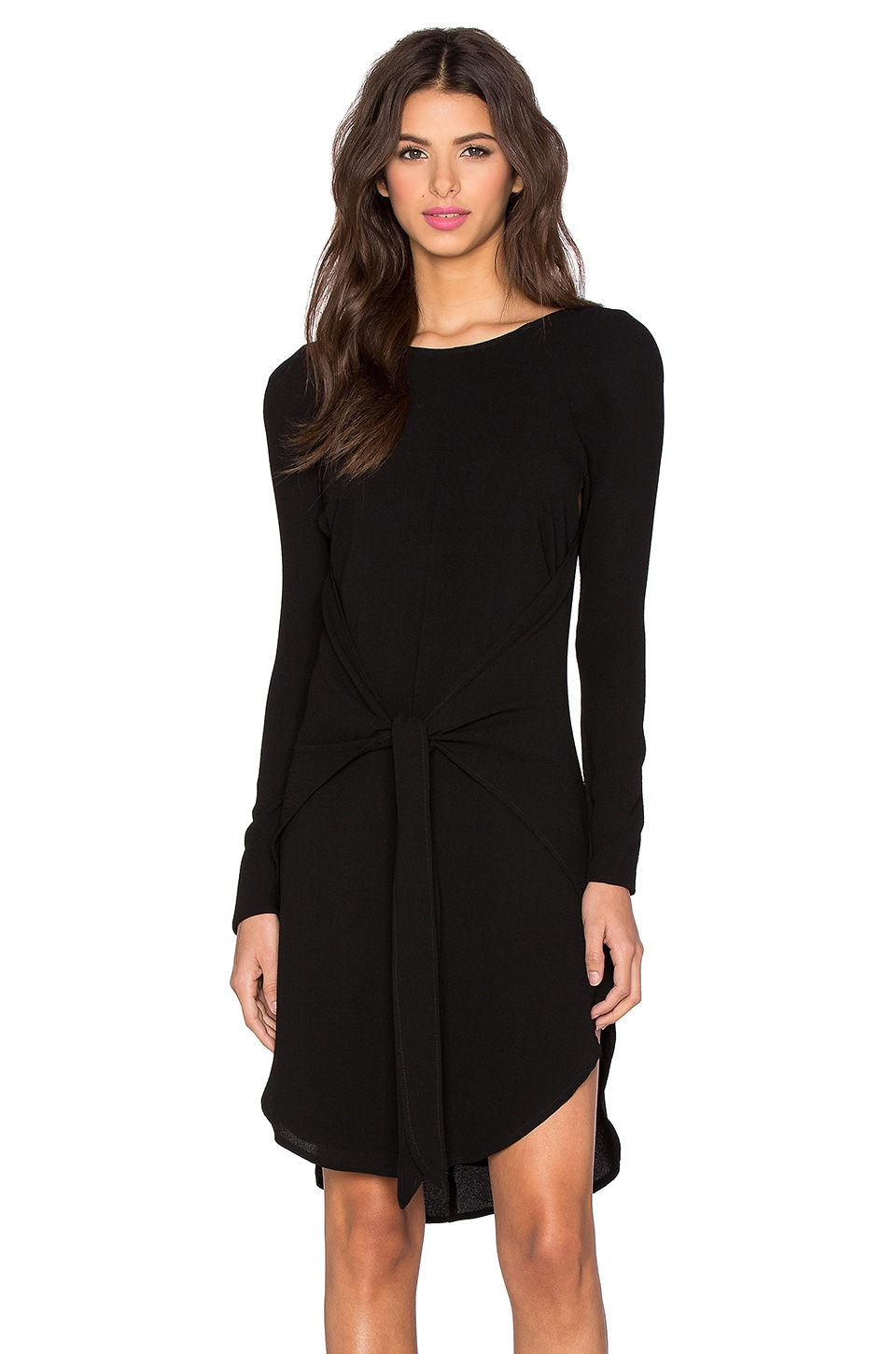 New Wave Long Sleeve Wrap Dress
