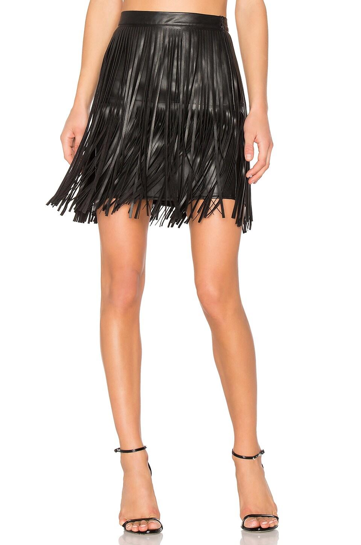 Clover Fringe Mini Skirt