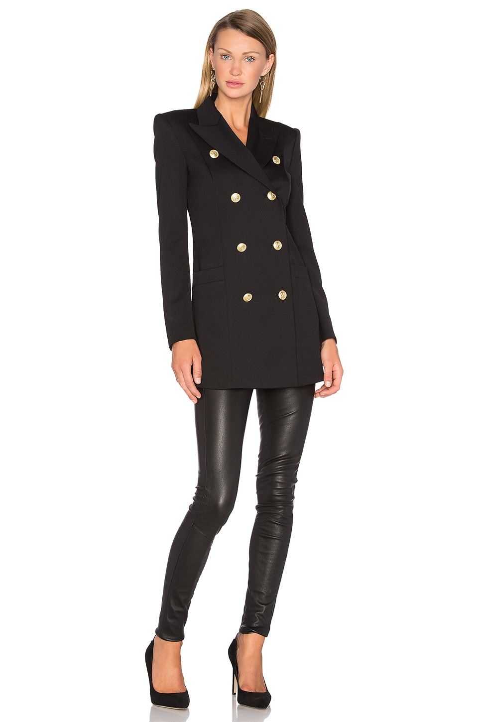Button Military Trench Coat