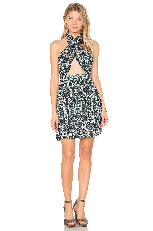 Cora Wrap Halter Dress