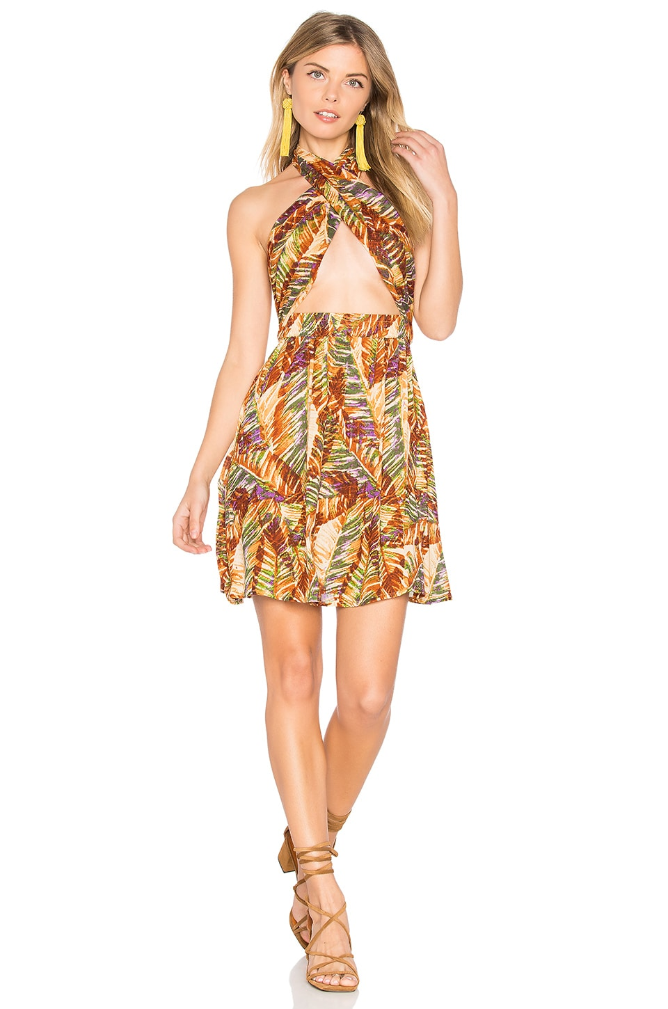 Paradise Peak Wrap Halter Dress