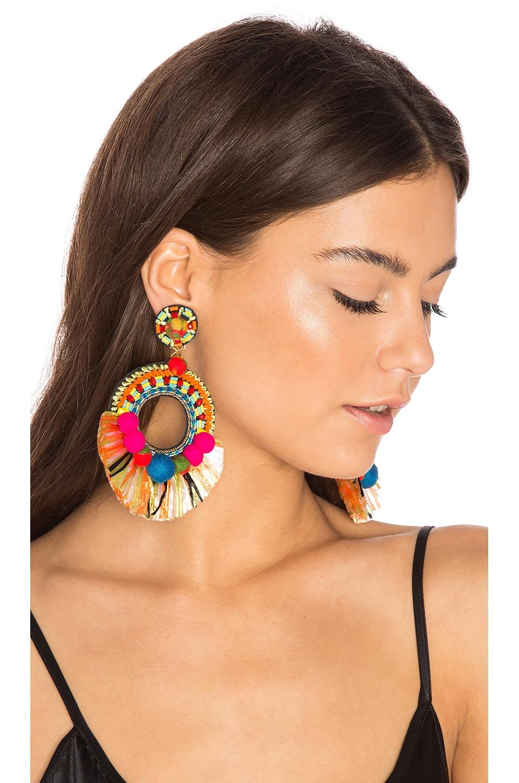 Raffia Hoop Earring