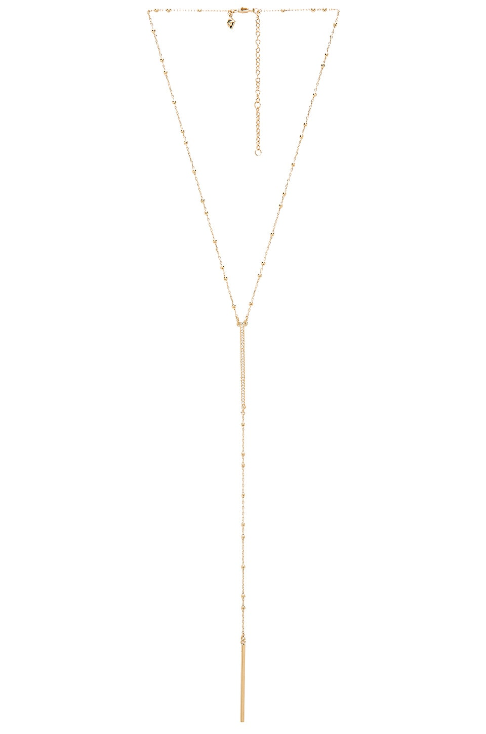 Beaded Pave Bar Necklace