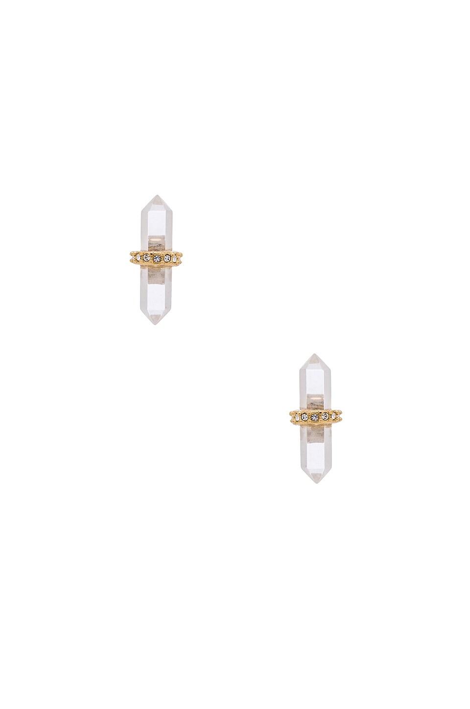 Crystal Pave Stud Earring