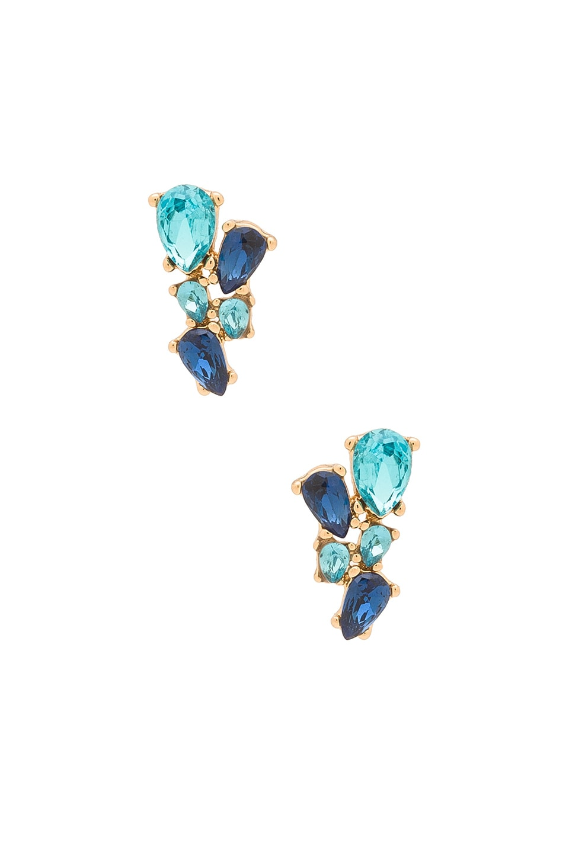 Multi Stone Stud Earring