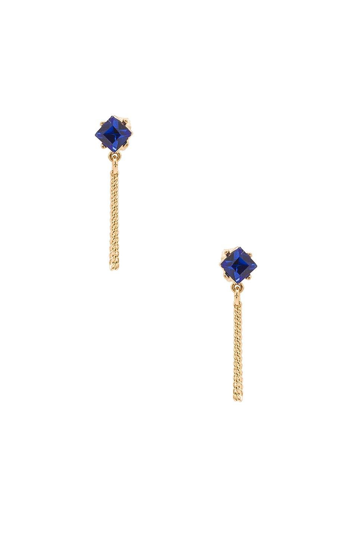 Stone Chain Loop Stud Earring