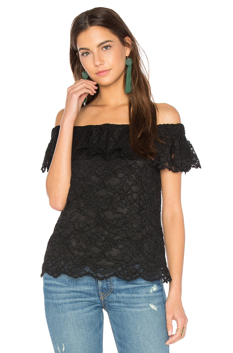 Off Shoulder Lace Top