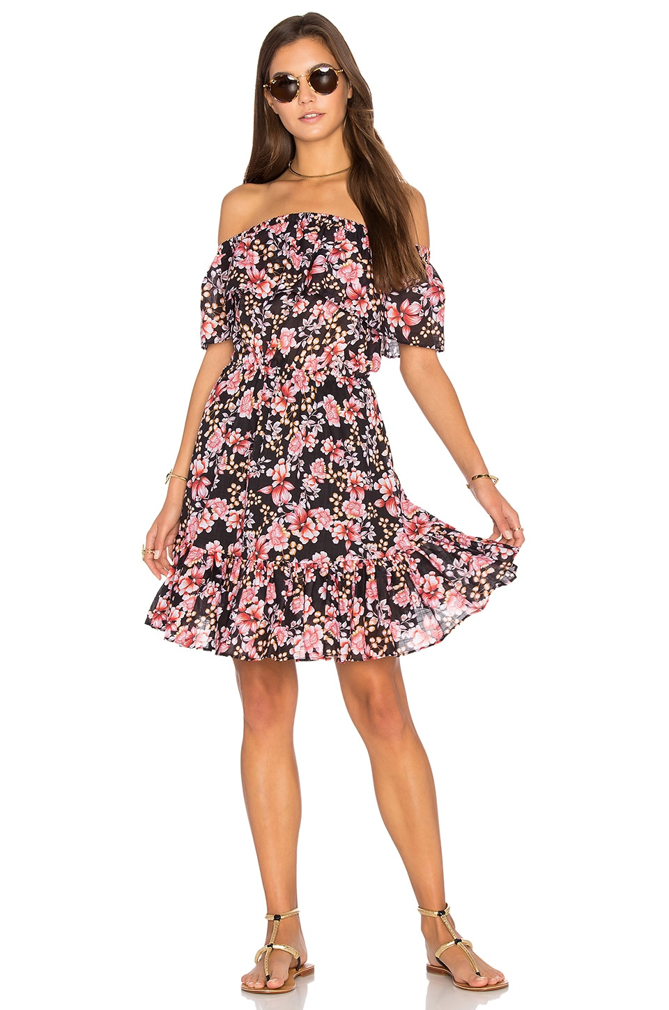 Nouveau Floral Off Shoulder Dress