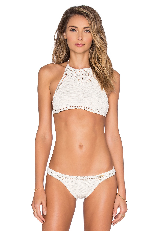 Crochet Halter Bikini Top