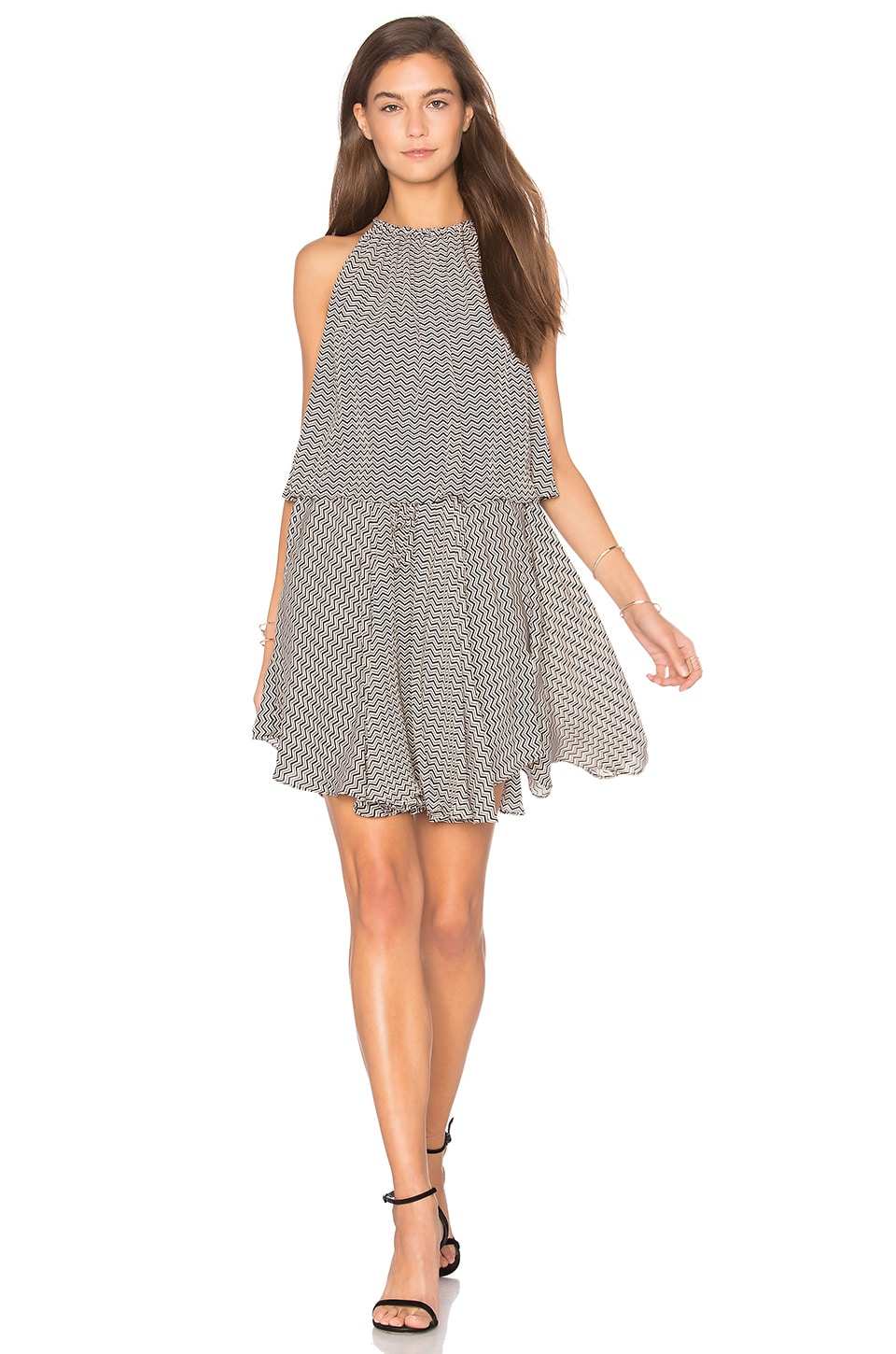 Etienne Layered High Neck Mini Dress