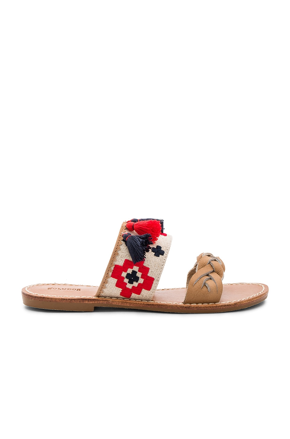 Embroidered Slide Sandal