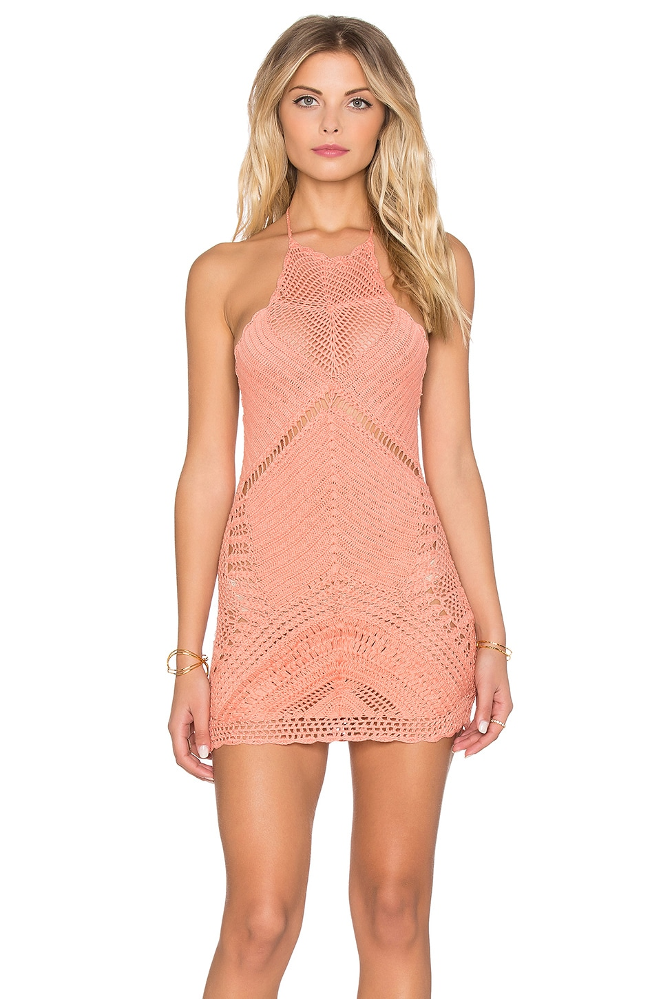 Palm Spring Halter Mini Dress