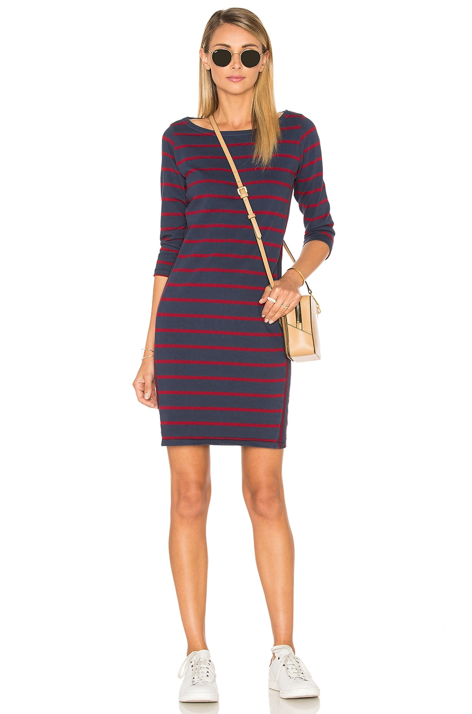 Wine Stripe Mini Dress