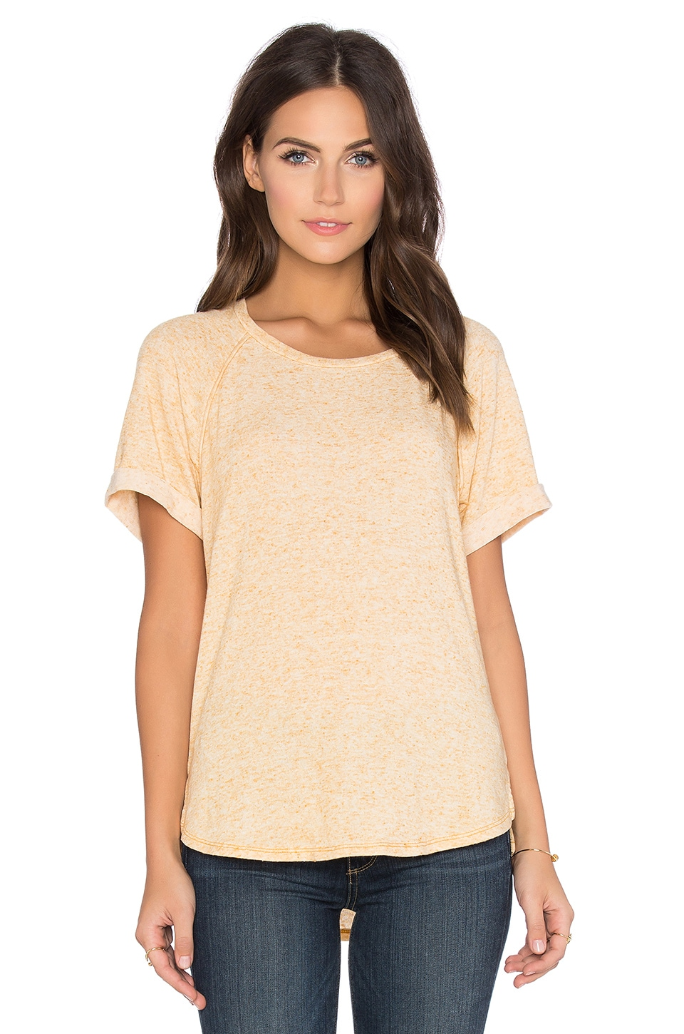 Linen Sweater Short Sleeve Crew Neck Tee
