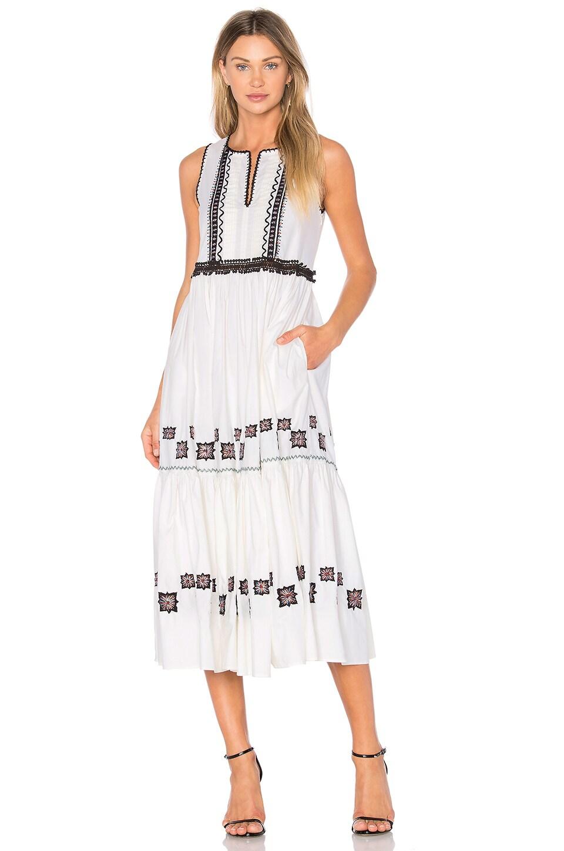 Cotton Leaf Maxi Dress