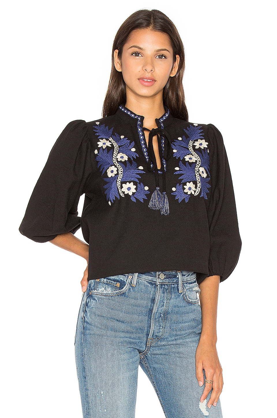 Two Tone Floral Top