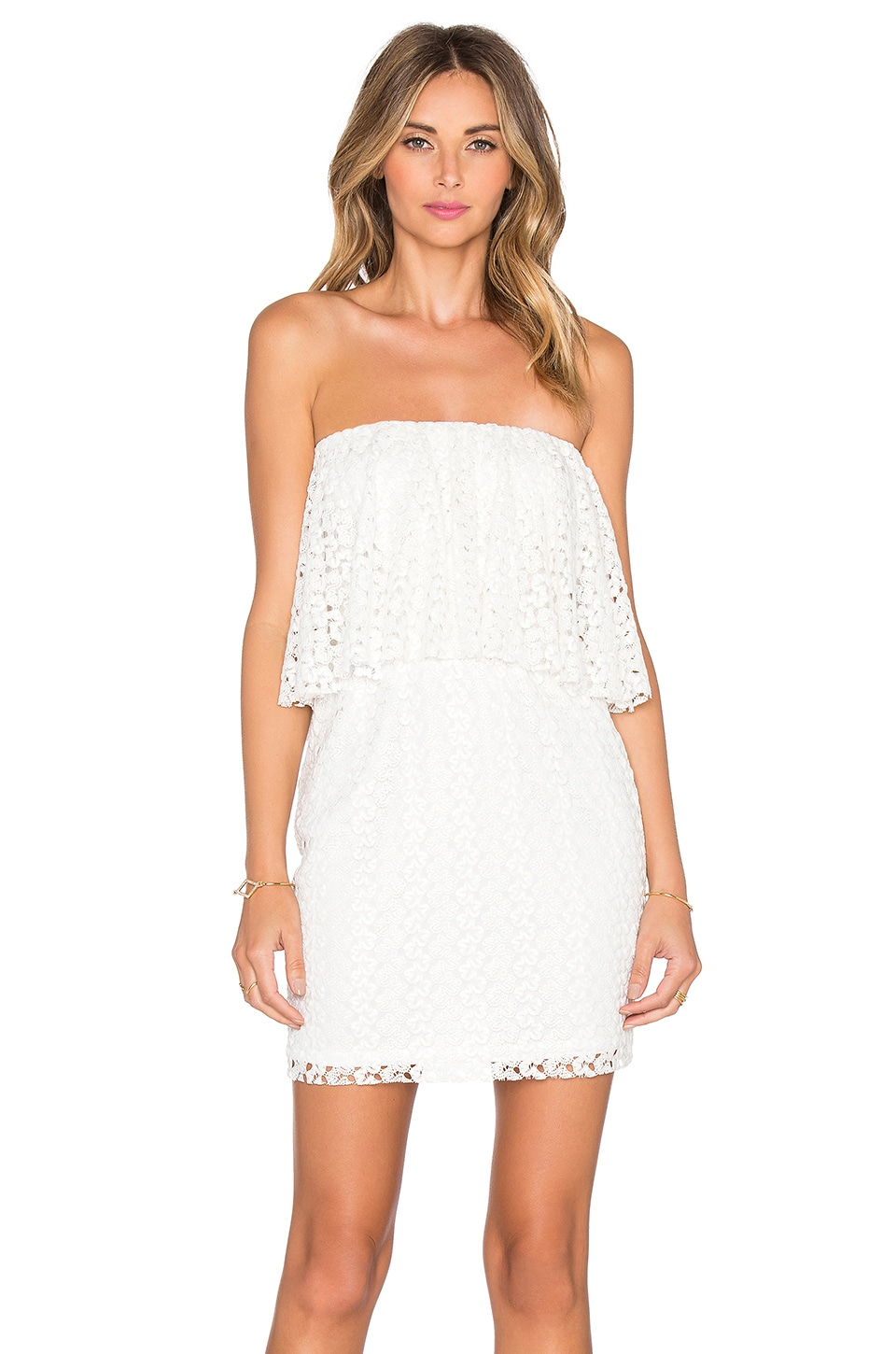 Strapless Ruffle Mini Dress