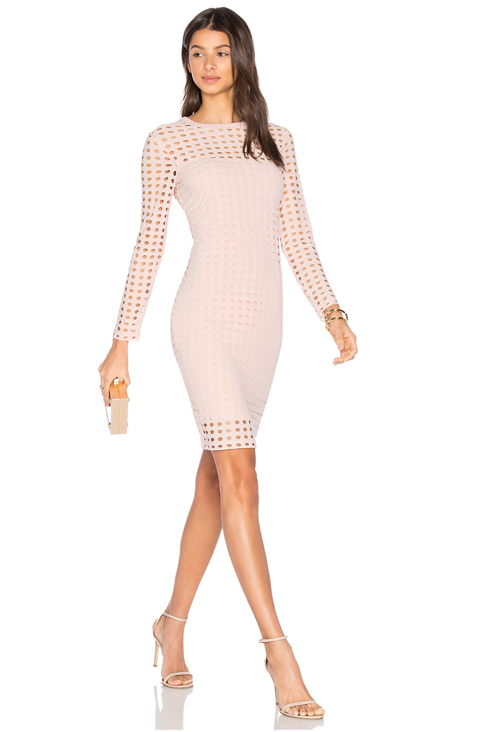 Circular Hole Long Sleeve Dress
