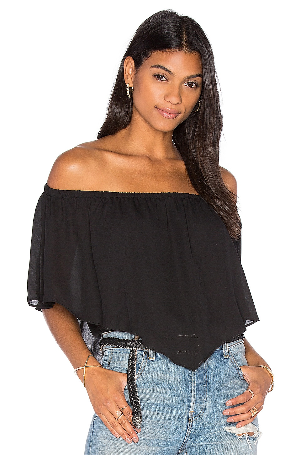Fiona Off Shoulder Ruffle Top