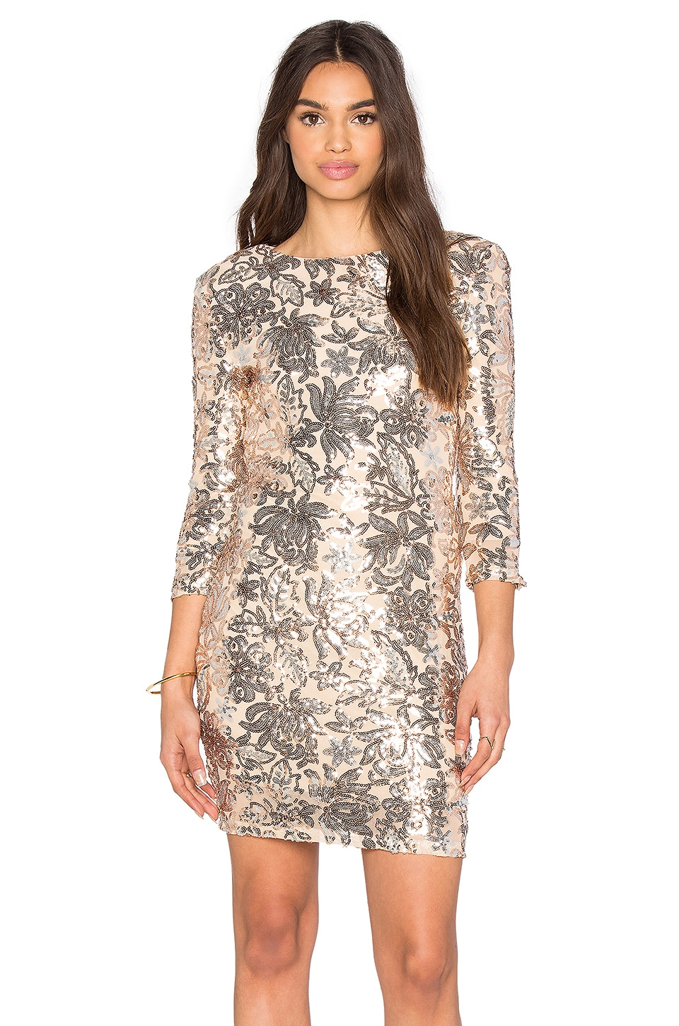 Paris Floral Sequin Dress
