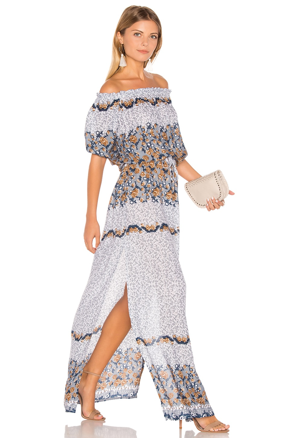 Sage Off Shoulder Maxi