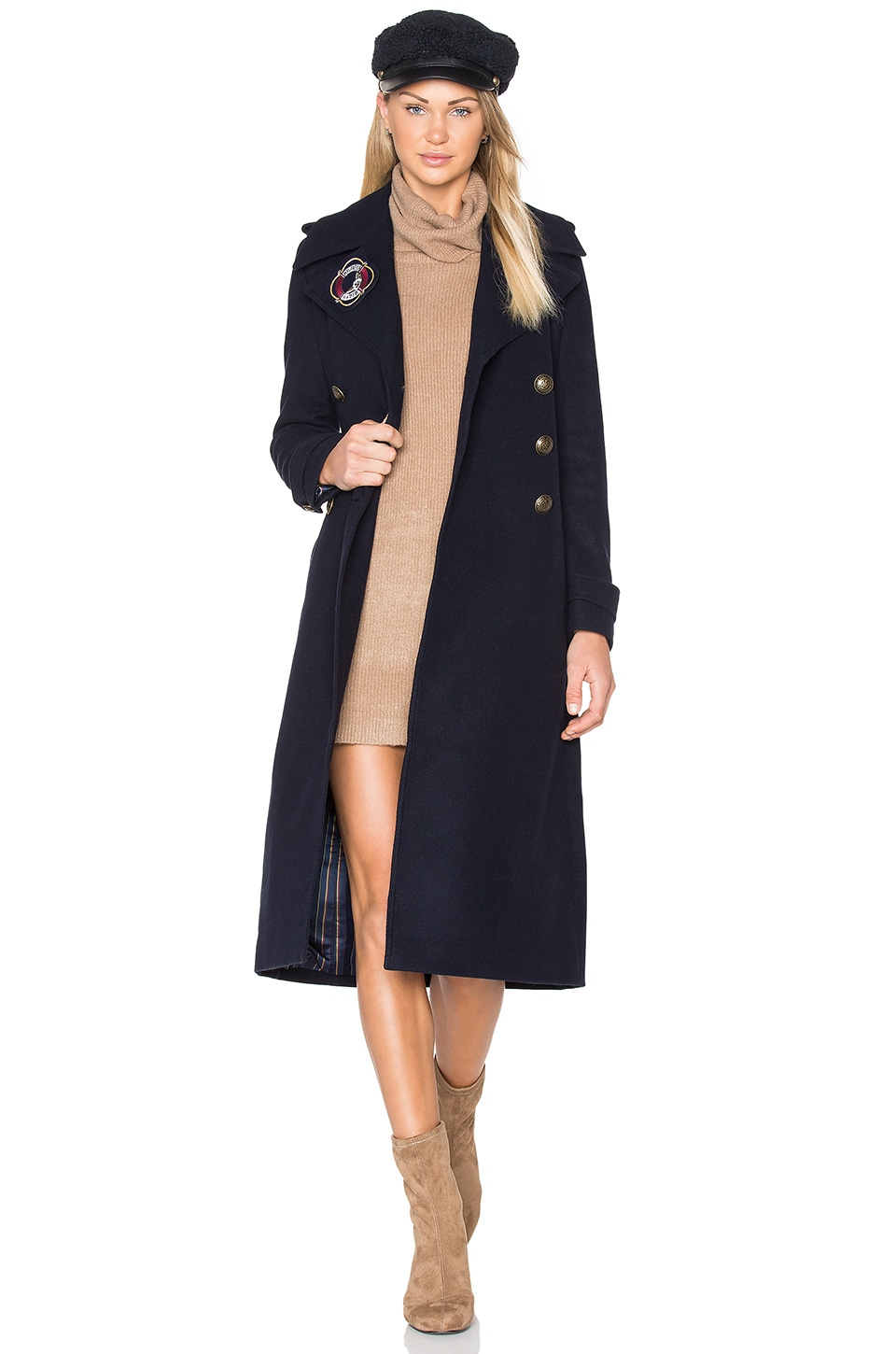 TOMMY x GIGI Long Military Coat