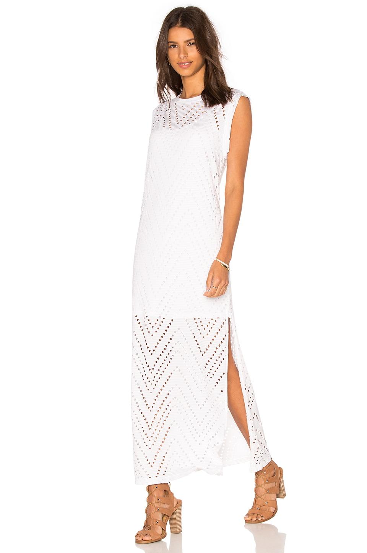 Twist Perforated Maxi Dress