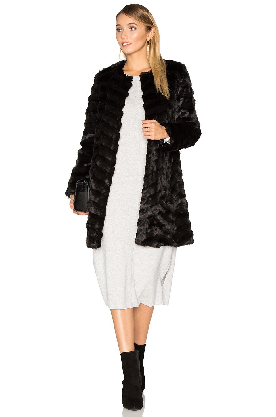 Dream Catcher Faux Fur Coat