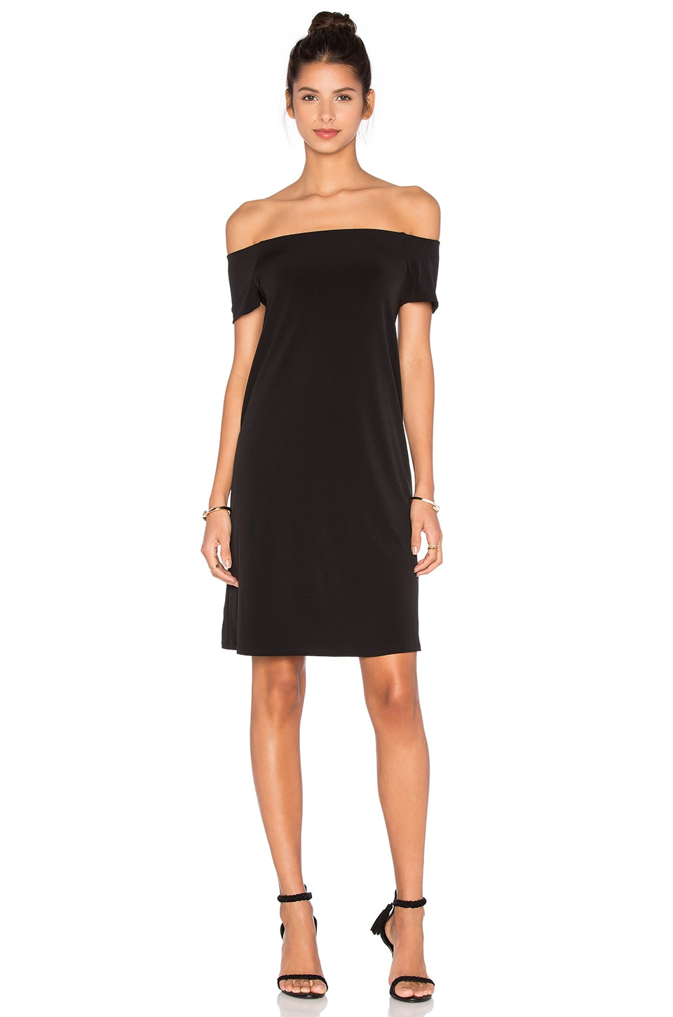 Sorana Stretch Jersey Off The Shoulder Dress