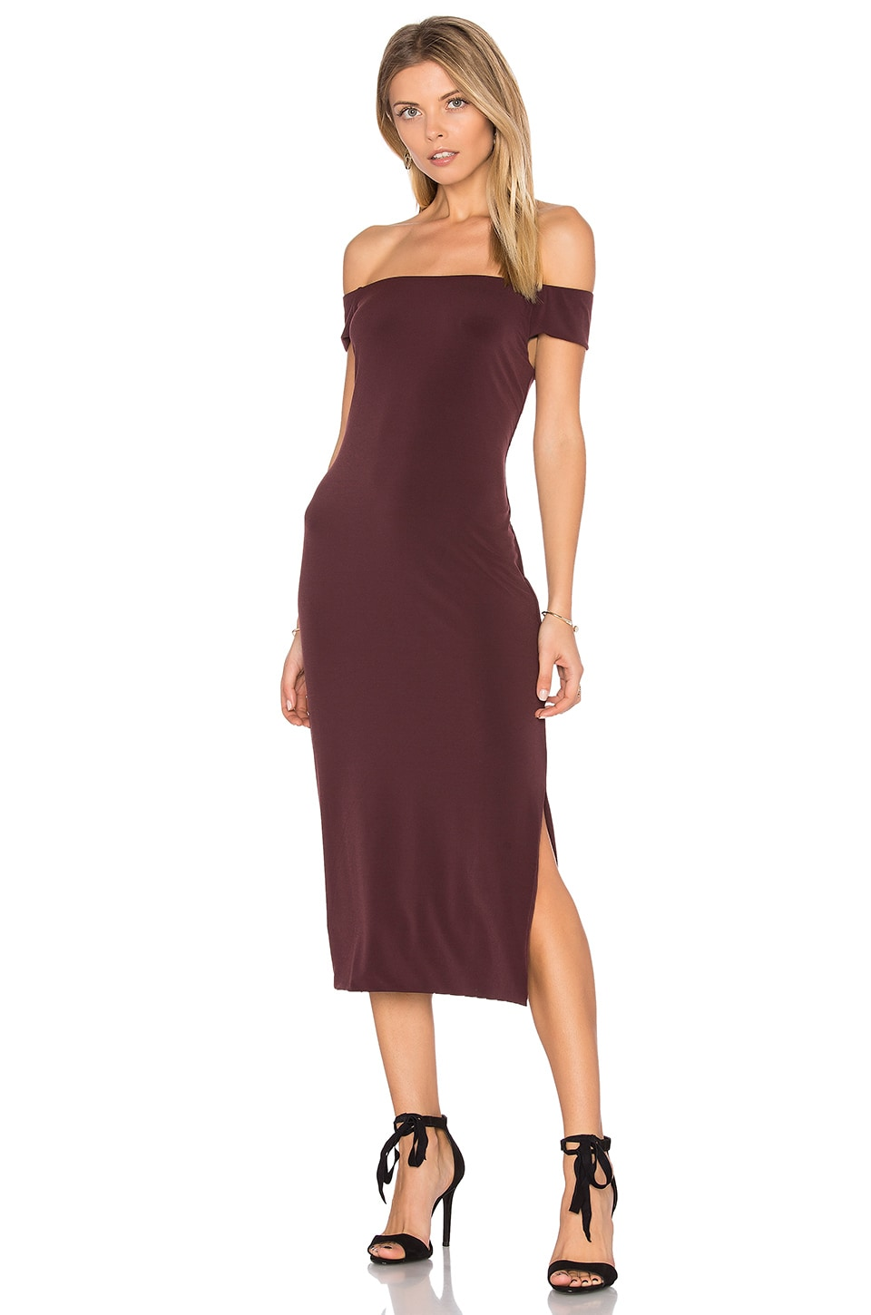 Francella Off Shoulder Midi Dress