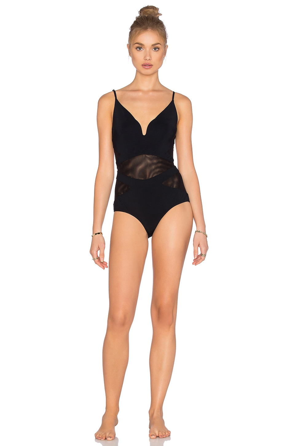 Plunge One Piece Swimsuit