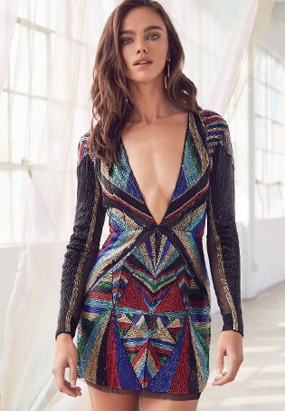 x REVOLVE Bowie Embellished Dress