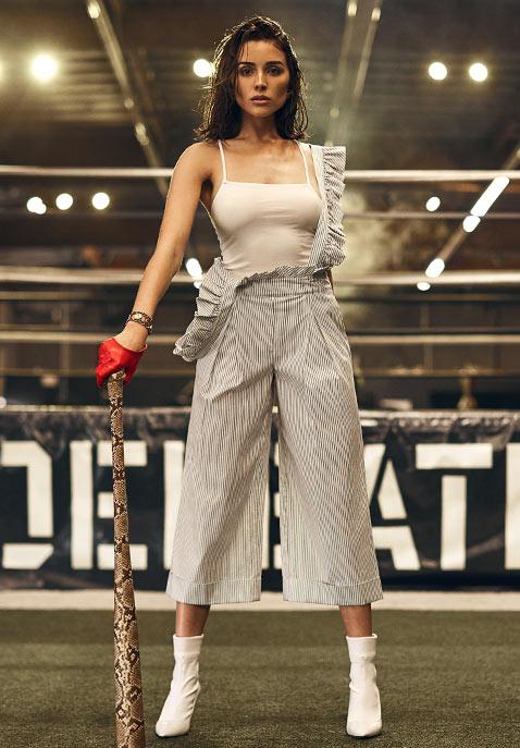 ad0f48ac03a1e7 Ruffle Jumpsuit. Shop The Look. Marled x Olivia Culpo