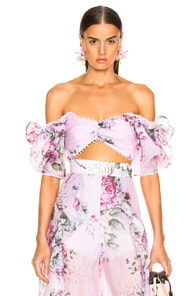 Alice Mccall ALICE MCCALL LOUIE LOUIE TOP IN FLORAL,PURPLE