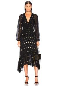 A.l.c A.L.C. DIAMOND FILCO STANWYCK DRESS IN ABSTRACT,BLACK,METALLIC